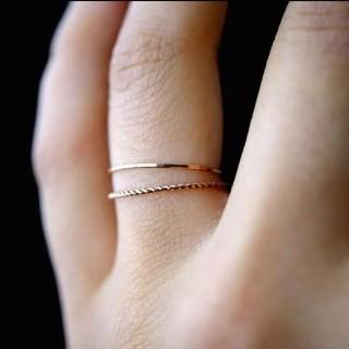 新品 ゴールド リング 大きめサイズ(リング(指輪))
