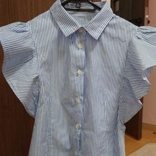 GU - size140 ストライプシャツ