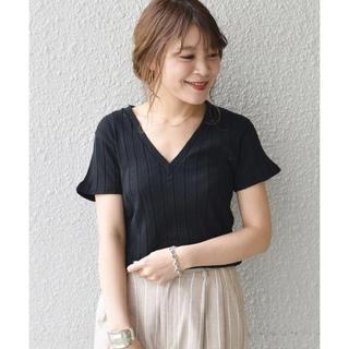シップスフォーウィメン(SHIPS for women)のships♡YOUNG&OLSEN リブVネックTee(Tシャツ(半袖/袖なし))