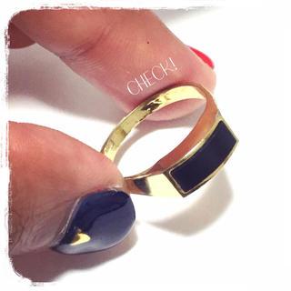ゴールド×ブラックリング15号くらい(リング(指輪))
