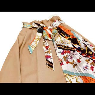 シマムラ(しまむら)のスカーフ柄 切替ロングスカート 【大人気商品】(ロングスカート)