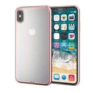 エレコム(ELECOM)のエレコム iPhone X iPhone XS シェルカバー ピンク クリア(iPhoneケース)