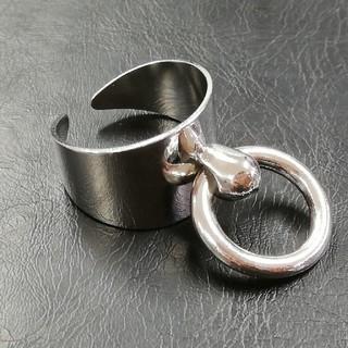 リング付き リング 指輪 フリーサイズ ノーブランド(リング(指輪))