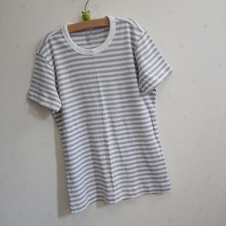 MUJI (無印良品) - 無印良品 MUJI 半袖 ボーダー ティーシャツ Tシャツ