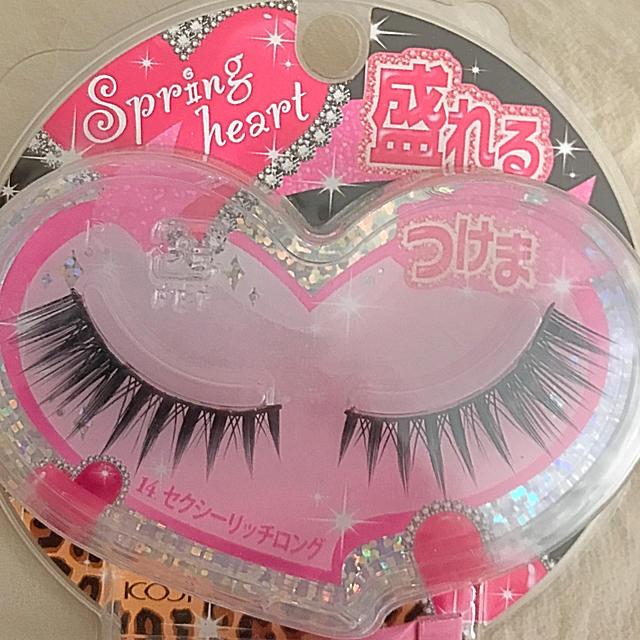 コージー本舗(コージーホンポ)のスプリングハート アイラッシュ 14 コスメ/美容のベースメイク/化粧品(つけまつげ)の商品写真