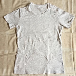 ユニクロ(UNIQLO)の【新品未使用】ユニクロ スーピマコットンクルーネックTシャツ Lサイズ  グレー(Tシャツ(半袖/袖なし))