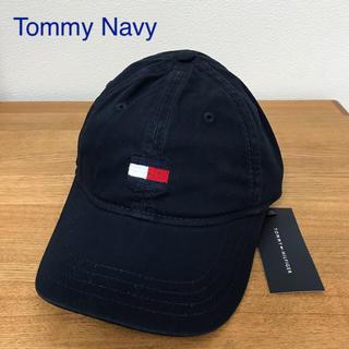 トミーヒルフィガー(TOMMY HILFIGER)の◎新品 トミーヒルフィガー キャップ ネイビー 帽子 紺色 野球部 Navy (キャップ)