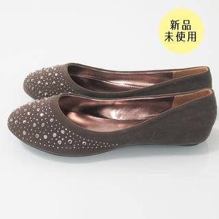 【新品未使用】 パンプス バレエシューズ グレー 2E 21.0~21.5cm(ハイヒール/パンプス)