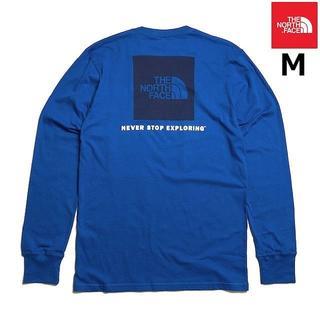 THE NORTH FACE - 売切!ノースフェイス ボックスロゴ ロンT 長袖Tシャツ(M)青 180902