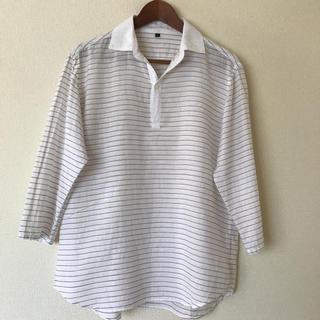 ムジルシリョウヒン(MUJI (無印良品))の無印良品 メンズ 七部袖丈 麻混シャツ Lサイズ(シャツ)