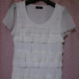 イネド(INED)のイネド半袖フリルカットソー(カットソー(半袖/袖なし))