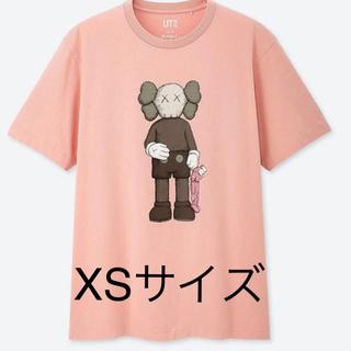 UNIQLO - 19SS ユニクロ カウズ tシャツ UNIQLO  XS ピンク KAWS