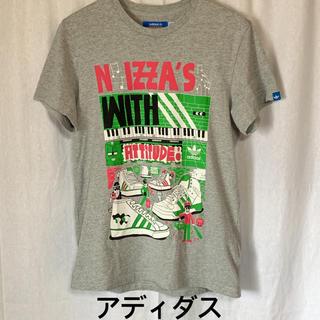 アディダス(adidas)の美品 アディダス 半袖プリントTシャツ ユニセックス (Tシャツ/カットソー(半袖/袖なし))