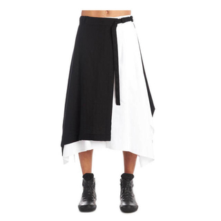 ヨウジヤマモト(Yohji Yamamoto)のYohji Yamamoto Two-Tone Skirt Pants(デニム/ジーンズ)