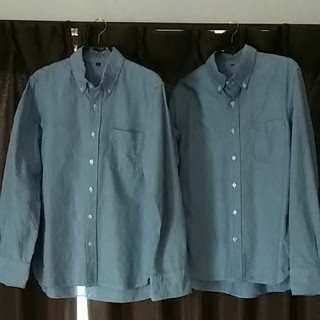 ムジルシリョウヒン(MUJI (無印良品))のオックスフォードボタンダウンシャツ 無印良品 M(シャツ)