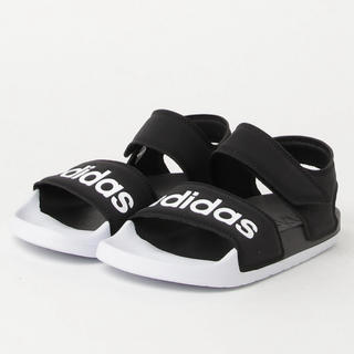 アディダス(adidas)のadidas アディレッタ シャワーサンダル ブラック×ホワイト(サンダル)
