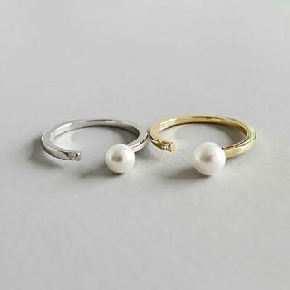 アダムエロぺ(Adam et Rope')のインポート silver 925 pearl pierce #134(リング(指輪))
