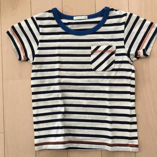 ジーユー(GU)の子供 ボーダーTシャツ 110cm(Tシャツ/カットソー)