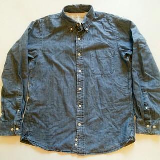 ムジルシリョウヒン(MUJI (無印良品))の無印良品 オーガニックコットン シャンブレー ボタンダウンシャツ L(シャツ)