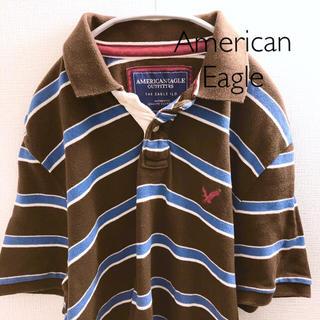 アメリカンイーグル(American Eagle)の【アメリカンイーグル】ポロシャツ ボーダー S  American Eagle(ポロシャツ)