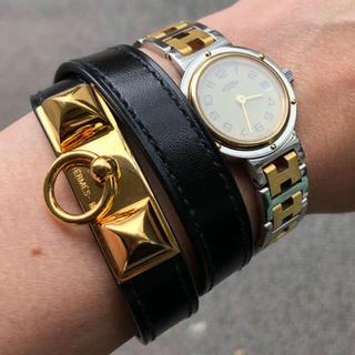 Hermes - エルメス HERMES クリッパー 腕時計 コンビ