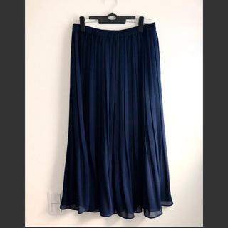 ユニクロ(UNIQLO)のユニクロ ロングスカート ネイビー(ロングスカート)