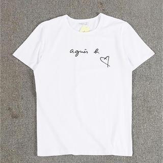 アニエスベー(agnes b.)のagnesb. ハートサイズL白アニエス・ベー半袖Tシャツ(Tシャツ(半袖/袖なし))