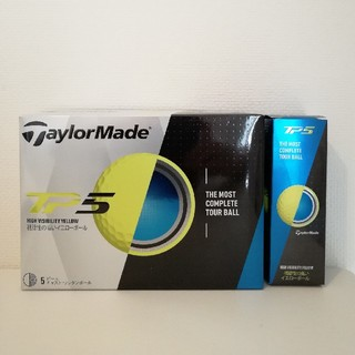 テーラーメイド(TaylorMade)の未使用新品‼️テーラーメード ゴルフボール TP5 イエロー 5スリーブ(その他)