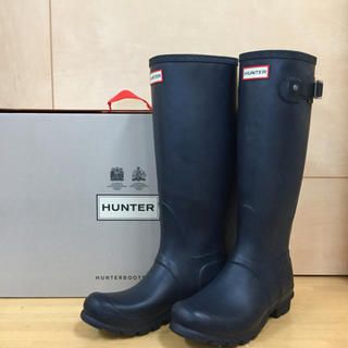 HUNTER - HUNTER ORIGNAL TALL レインブーツ ネイビー UK5