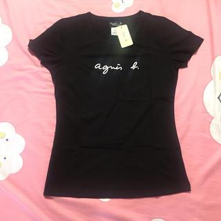 アニエスベー(agnes b.)のagnesb. サイズL黒アニエス・ベーレディース細身半袖Tシャツ(Tシャツ(半袖/袖なし))