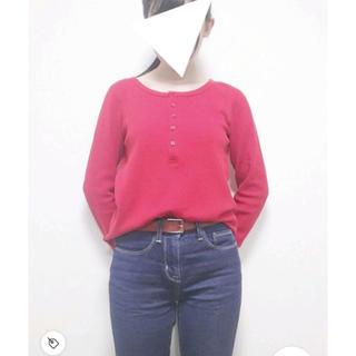 ユニクロ(UNIQLO)のヘンリーネックワッフルT(Tシャツ(長袖/七分))