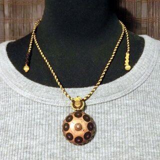 ハンドパン マクラメ ネックレス M023 handpan 特価(その他)
