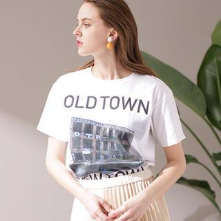 ナノユニバース(nano・universe)の今季新品 ナノユニバース FUNG.fungood/OLD TOWN Tシャツ(Tシャツ(半袖/袖なし))