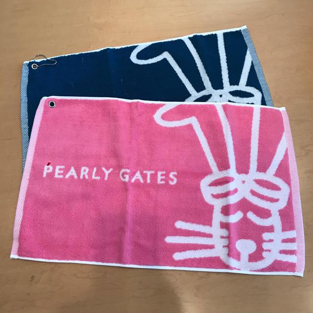 PEARLY GATES(パーリーゲイツ)のまりりん様パーリーゲイツタオル2枚セット スポーツ/アウトドアのゴルフ(その他)の商品写真
