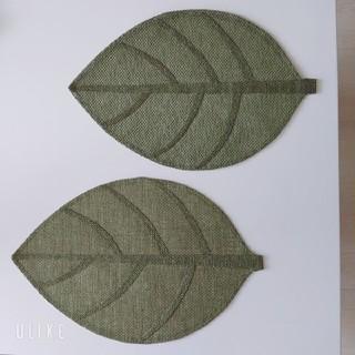 フランフラン(Francfranc)のランチョンマット 2枚セット ♡葉っぱ 夏 ボタニカル(テーブル用品)