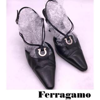 サルヴァトーレフェラガモ(Salvatore Ferragamo)のフェラガモ バッグストラップパンプス(ハイヒール/パンプス)