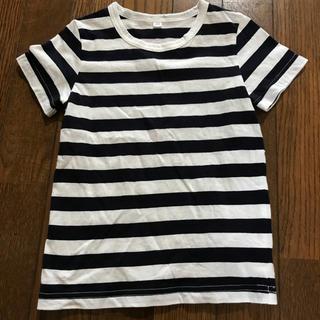MUJI (無印良品) - 無印良品 Tシャツ 100 ボーダー