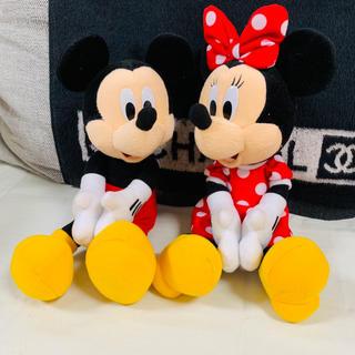 Disney - ミッキー ミニー マグネットぬいぐるみ