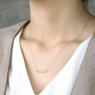 アーカー(AHKAH)のsiena シエナ ダイヤバーネックレス ラインネックレス(ネックレス)
