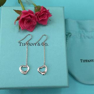 Tiffany & Co. - ティファニー オープン ハート ドロップ ピアス