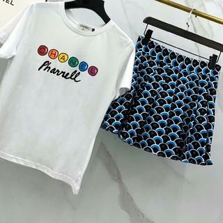 シャネル(CHANEL)のChanel シャネル レディース Tシャツ スカート ツーピース セット(ミニワンピース)
