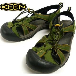 キーン(KEEN)のKEEN キーン アウトドアサンダル US9(25cm相当)(緑/グリーン)(サンダル)
