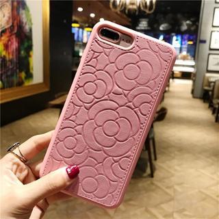 ピンク iPhone7 iPhone8 フラワー柄 ソフトケース
