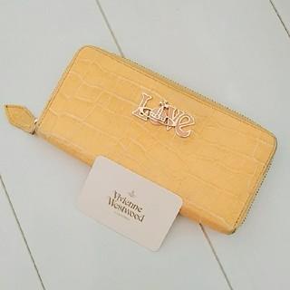 ヴィヴィアンウエストウッド(Vivienne Westwood)のヴィヴィアン クロコ ラウンドファスナー 長財布 イエロー(財布)