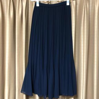 ユニクロ(UNIQLO)のUNIQLO シフォンプリーツスカート(ロングスカート)