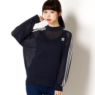 アディダス(adidas)の美品☆adidas Originals アディダスオリジナルス★モックネック☆(Tシャツ(長袖/七分))