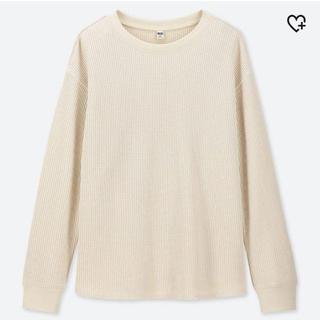 ユニクロ(UNIQLO)の未使用 ワッフルクルーネックT(Tシャツ(長袖/七分))