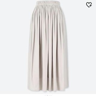 ユニクロ(UNIQLO)のギャザーロングスカート(丈標準81〜85cm)(ロングスカート)