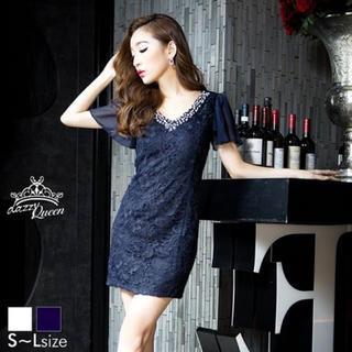 デイジーストア(dazzy store)のドレス /ネイビー(ミニドレス)