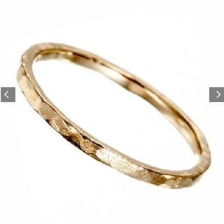アガット(agete)のK10 YG アガット agete シンプル 槌目 ピンキー リング(リング(指輪))